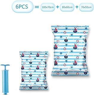LXDDP Sacs Rangement sous Vide, variété Sacs Rangement réutilisables pour couvertures literie pour vêtements, Pompe à Main...