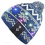 Qshell LED de luz de Cadena hasta Beanie Hat Gorra de Punto con Alambre de Cobre Luces Coloridas 4 pies 27 Leds para Hombres Mujer Interior y al Aire Libre, Fiesta, Celebración