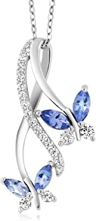 Best sterling silver tanzanite necklace Reviews