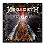 Megadeth Album Cover - Endgame (2019 - Remaster) Poster Decorative Painting Canvas Wall Art Living Room Posters Bedroom Painting 12'×12'(30*30cm)