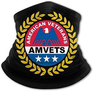 American Veterans Amvets - Pasamontañas para niños con protección UV para el cuello, resistente al viento, multifunción, p...