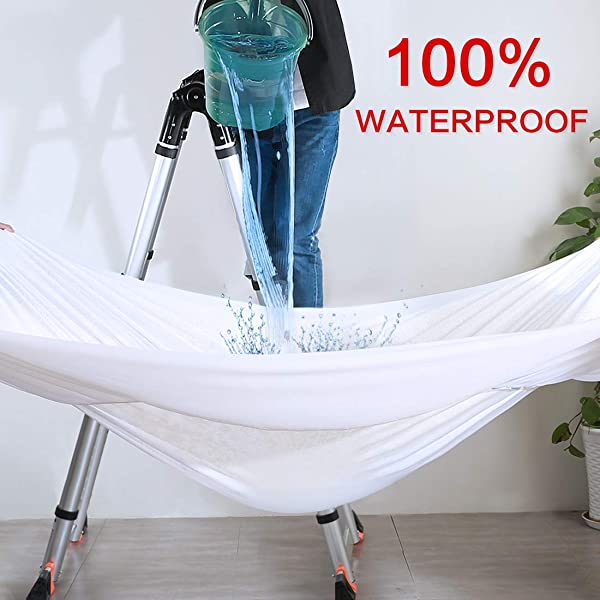 Edilly Queen Size Premium Hypoallergenic 100 Waterproof Mattress Pad Protector Cover Breathable Fitted 8 21 Deep Pocket LuxuryPro