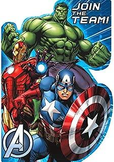 Avengers Birthday Party Postcard Invitation Kit, Pack Of 8, Multi, 4 1/4