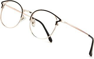 Cyxus Blue Light Blocking Glasses Women Eyeglasses(Cateye Frames)for Blocking UV Headache Anti Eye Fatigue (02Rose Gold)