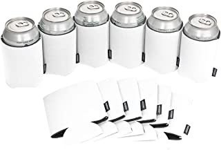 Koozie Can Cooler Blank Foam Sleeve Bottle Holder - authentic coozies insulators Great for DIY Projects for Wedding, Bachelorette Party, Birthdays (White, 12)