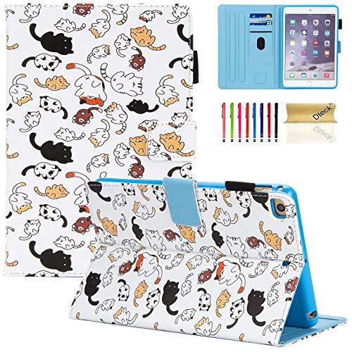 Dteck Case for iPad Mini 4 Case/iPad Mini 5 2019 (5th Generation 7.9 inch), Slim Premium Leather Smart Folio Stand Case with Pencil Holder, Auto Sleep/Wake, Multi-Angle Viewing Case, Cute Cats
