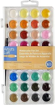 36 Colors Artists Loft Fundamentals Watercolor Pan Set