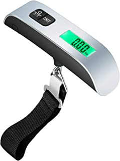 Digital Hanging Luggage Scale 50KG/110 Lbs for Travel Weighing Scale with Temperature Sensor and Tare Function, Battery Included