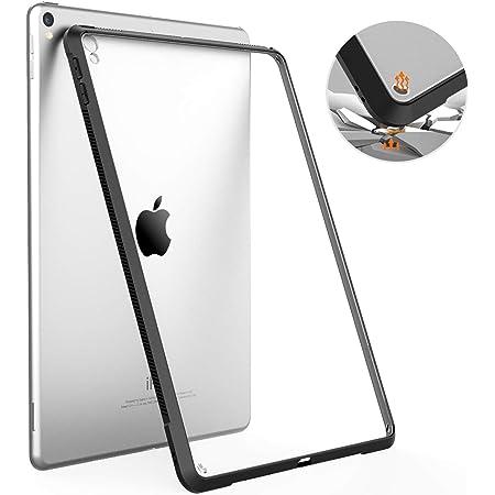 iPad Air3 ケース TiMOVO iPad Pro10.5 ケース ipad air 第3世代 ケース 10.5インチ カバー 透明 TPU縁+PC背面ケース 耐衝撃 滑り止め 軽量 着脱簡単 一体感 「ipad air3 2019 & ipad pro 10.5 2017 兼用」 Black