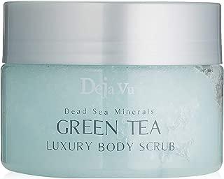 Deja Vu Dead Sea Minerals GREEN TEA Luxury Body Scrub - 250ml 8.5oz.