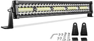 LED Light Bar 22'' DWVO 300W Straight Triple Row 20000LM Upgrade Chipset Led Work Light for Off Road Driving Fog Lamp Marine Boating IP68 WATERPROOF Spot & Flood Combo Beam Light Bars, 2-Yr Warranty