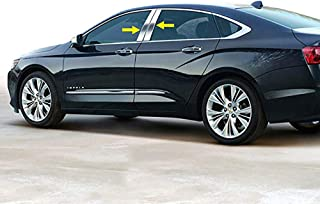 Made in USA! Works with 2014-2019 Chevrolet Impala 4PC Stainless Steel Chrome Pillar Post Trim