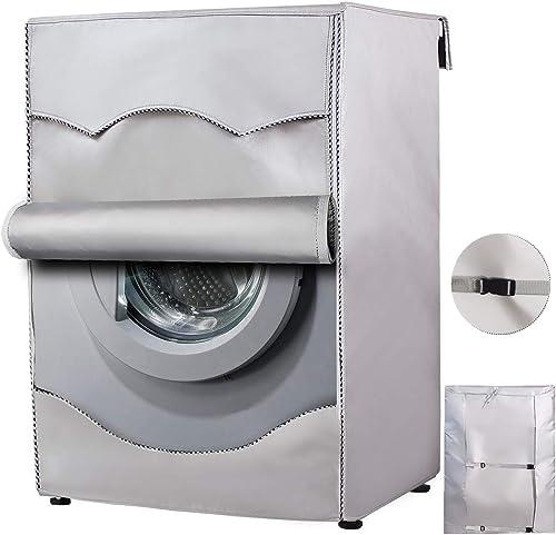 Mr.You Couverture de Machine à Laver Protection Anti-poussière Pour Face Avant de Machine à Laver et Sèche-linge-Tiss...