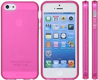 mtmd decolor tpuハードシリコン iphone SE/5/5sケース さらさらタイプ/クリアピンク