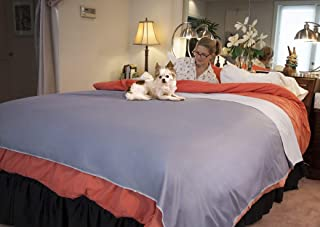 Silly Legacy Reversible Waterproof Protective Cover or Liner for Bed or Couch, for Dogs and Cats (Queen 82 x 78, Gray)