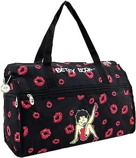 Betty Boop Large Duffel Bag, Durable Microfiber