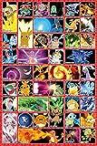 Grupo Erik Editores Pokemon Moves Poster, Madera, Multicolor, 65 x 3.5 x 3.5 cm