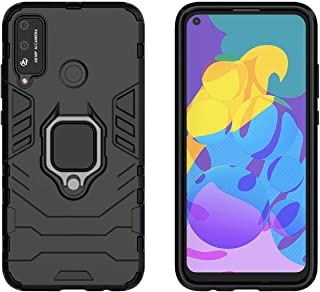 YEESOON Honor Play 4T Case, Dual Layer Hybrid Shockproof Protective Case with Ring Stand & Magnetic Car Mount Function Bac...