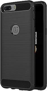 AICEK Funda OnePlus 5, Negro Silicona Fundas para OnePlus 5 Carcasa OnePlus 5 Fibra de Carbono Funda Case (5,5 Pulgadas)