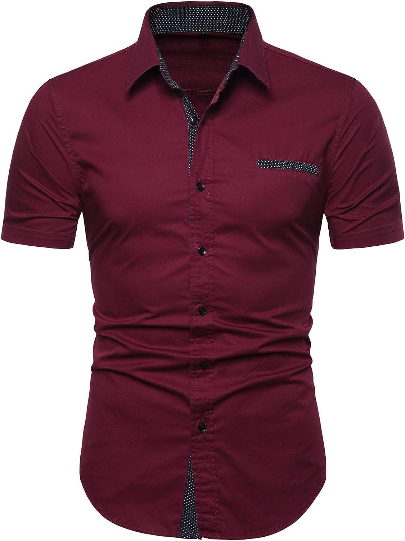 Manwan walk Mens Casual Limited price sale Inexpensive Button Shirts Short Down Regular Sleeve