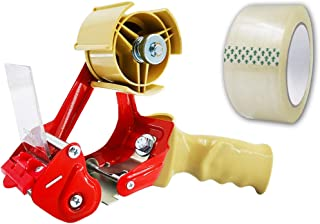 Packing Tape Dispenser Gun–Ergonomic Heavy Duty, 2 Inch Wide, Elepa Sealing Cutter, 1 Roll Packaging Tape incl, Used for Packaging, Warehouse Storage, Shipping, Carton Sealing. (1)