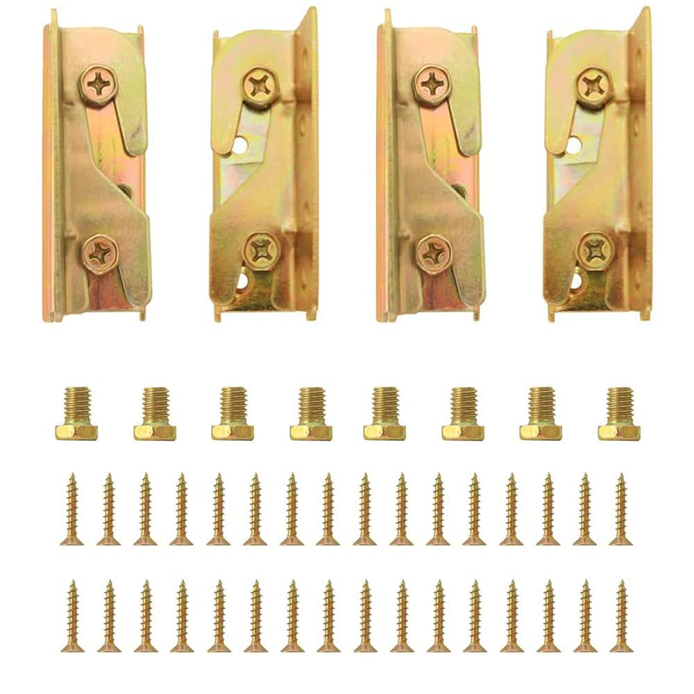 4 Set Bed Bombing free shipping Rail Brackets-Heavy Fittings Direct stock discount Non-Mortise Duty