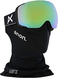 Mig Snow Goggles Black with Sonar Green Lens + MFI Mask
