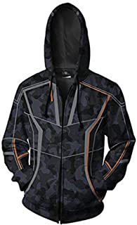 Mens Hunter Style Cotton Jacket Camouflage Hoodie