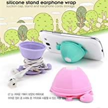 Cute Earbuds Holder Case Cord Wrap Earphone Tangle-Free Cable Turtle Organizer Headphone Storage Accessories Headset Winder Hang Case (Green)