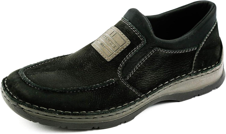 Rieker Samples Men's RK1-038 Loafer Flats Black Black