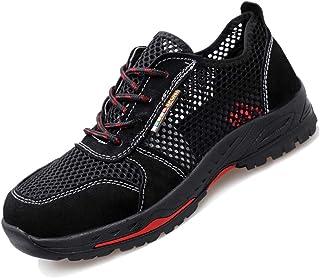 ac32e699 YHHF Ligero Respirable Zapatos de Seguridad de los Hombres, Puntera de  Acero Zapatos de Trabajo
