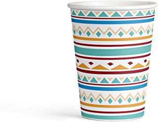 Generique - 8 Paper Cups 250 ml Tribus Tippie Design