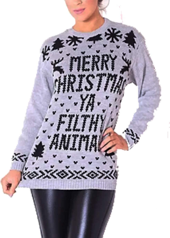 FASHIONGYAL UK B78 Childrens Kids Boys Girls Unisex Knitted Retro Novelty Christmas Xmas Jumper