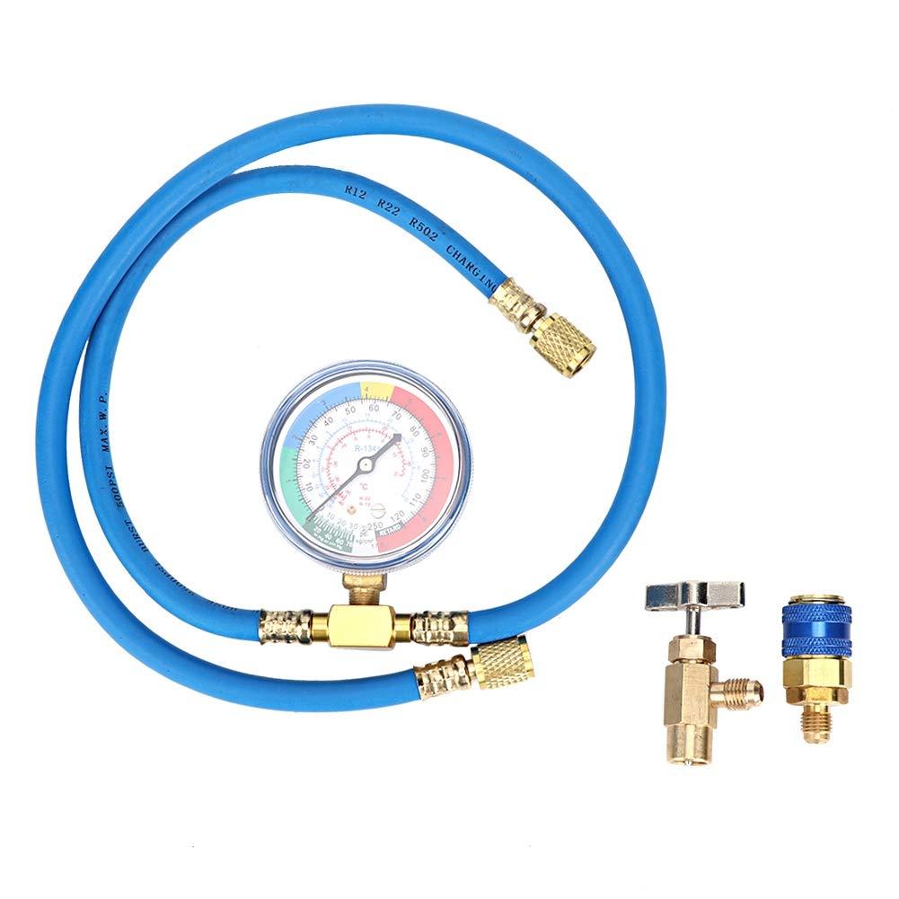 Qii lu 激安通販専門店 R134A Refrigerant Gauge Measuring Hose 引出物 Can Recharge