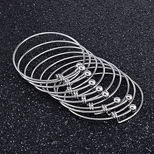 Adjustable Wire Blank Bracelet Expandable Stainless Steel Bangle Bracelet for Jewelry DIY Making