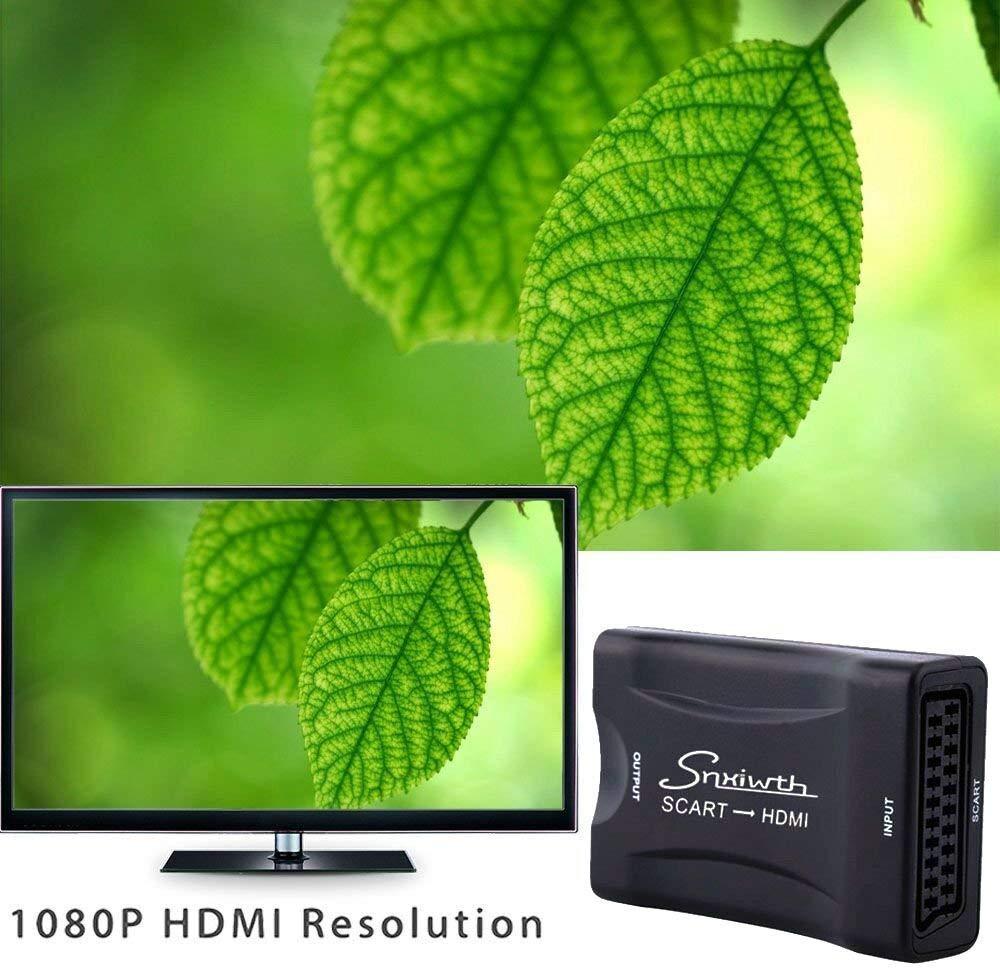 Snxiwth Conversor euroconector a HDMI con escalador de apoyo de audio y vídeo HDMI 1080P 720P para SKY HD Blu Ray, DVD, TV y PS3: Amazon.es: Electrónica