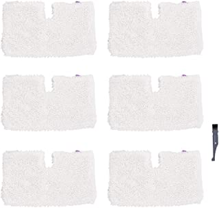 I clean Replacement Shark S3601 Steam Mops, 6Packs Pocket Microfiber Pads for Shark S3500 Series S3501 S3550 S3901 S3801 SE450 Lift Away Professional Vacuum Cleaners