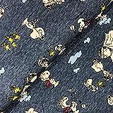 Swafing GmbH Lizenz Jersey Peanuts Snoopy blau meliert -