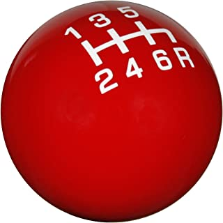 Speed Dawg SK504NL-PW-6RUL Pro Series Red//White 6-Speed Reverse Upper Left Shift Knob