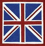 Caspari Set di 20 tovaglioli di carta Motivo bandiera britannica