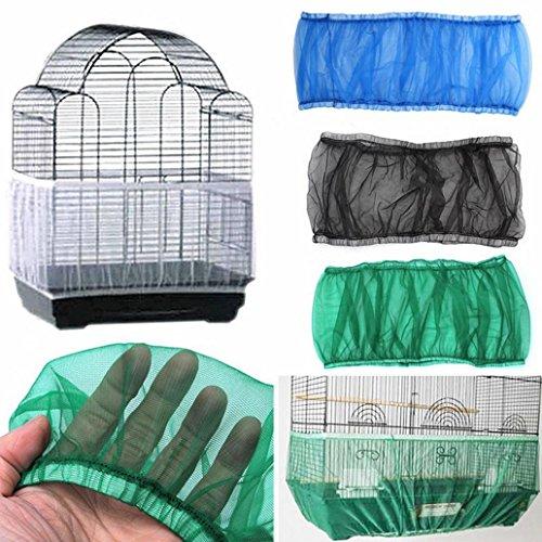 Kangql - Funda para jaula de pájaros con ventilación de nailon, a prueba de polvo