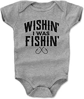 Bald Eagle Shirts Fishing Lover Baby Clothes & Onesie (3-24 Months) - Wishing I was Fishing