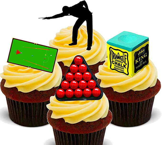 Ronnie O/'Sullivan Playing Snooker PERSONALISED 8 INCH ICING Edible Cake Topper