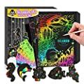 POKONBOY 50 Pack Scratch Arts and Paper Crafts Kits with 20 Pcs Marine Animal Scratch Paper and Wooden Stylus for Kids Ages 6-8 for Easter Party Game Christmas Birthday Gift