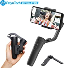 FeiyuTech VLOGpocket Gimbal 3-Axis Handheld Stabilizer Foldable Gimbal Smartphone Stabilizer for iPhone/Huawei/Samsung/Xiaomi, Black,Come with Mini Tripod