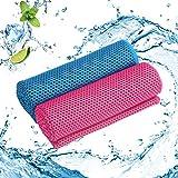 ZERHOK 2Stk Kühlendes Handtuch Mikrofaser Kühltücher Bequemes Sporthandtuch Intelligentes...