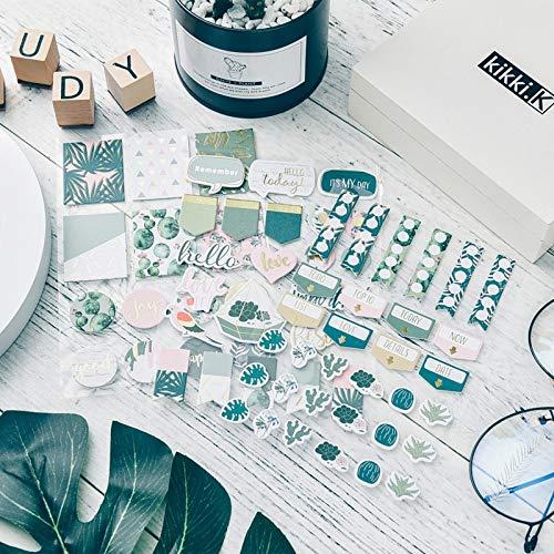 BLOUR Pequeñas Pegatinas Frescas para Materiales de Cuentas manuales de Bricolaje, álbumes de Recortes, Pegatinas de Bronceado de cartón, Tarjetas de felicitación de álbumes