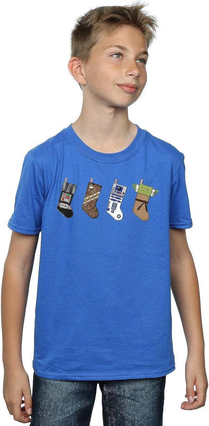 STAR WARS Boys Christmas Stockings T-Shirt 9-11 Years Royal Blue
