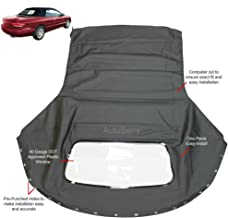 Fits: Chrysler Sebring 1996-2006 Convertible top & plastic window Black Sailcloth (1 piece Easy install)