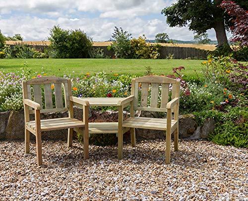 Zest4Leisure Caroline Companion Seat - FSC Certified Pressure Treated Wood